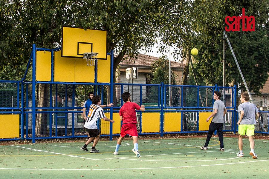 Multisport dinamiko sport sarba azione di gioco sarba news for Arredo urbano ancona