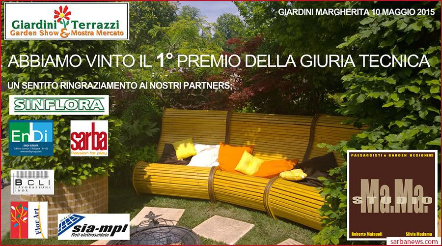 giardini e terrazzi bologna 2015: sarba vince il primo premio ... - Giardini E Terrazzi Garden Show Mostra Mercato
