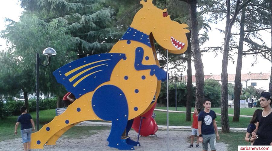 Un nuovo Drago gioco, giallo e blu, atterra sulla Basilicata