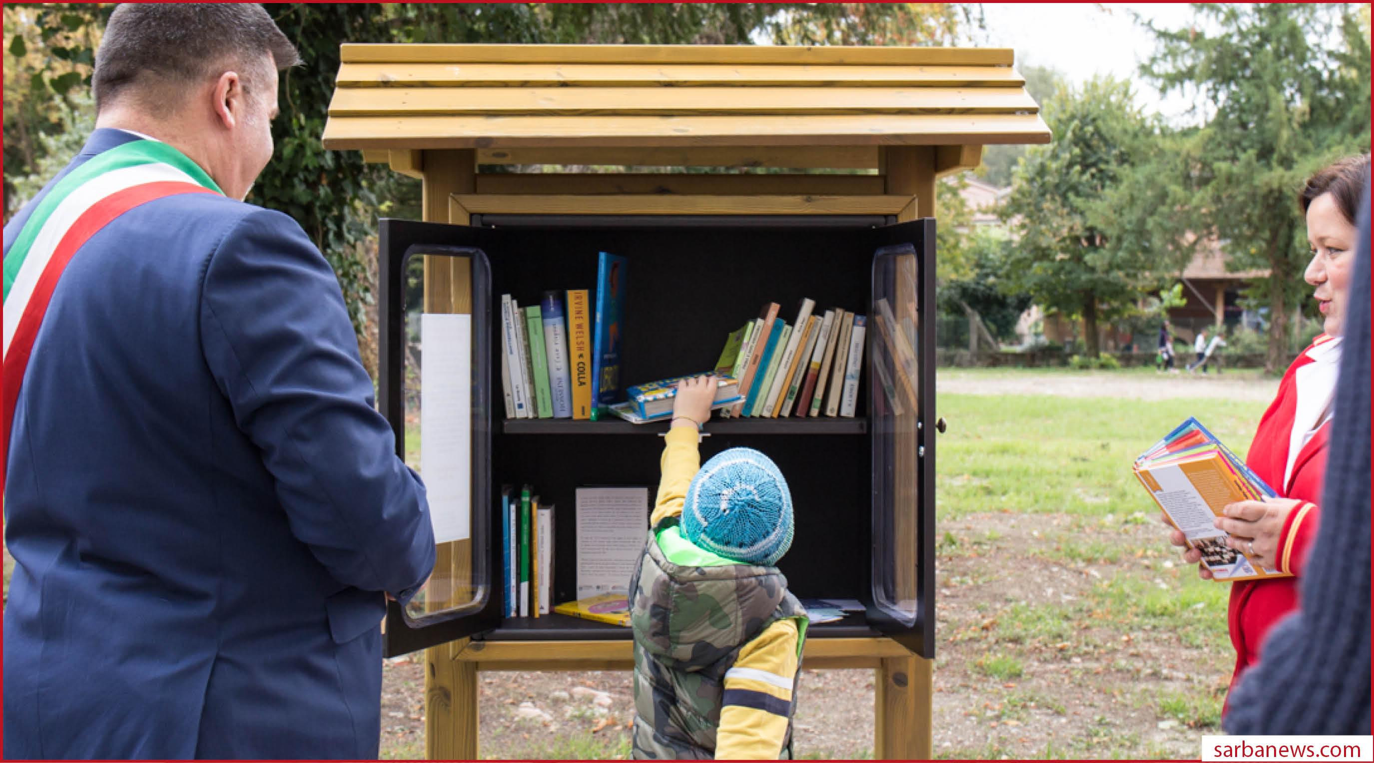 Bookcrossing al centro, nel bellissimo parco letterario di San Felice s/P di Modena